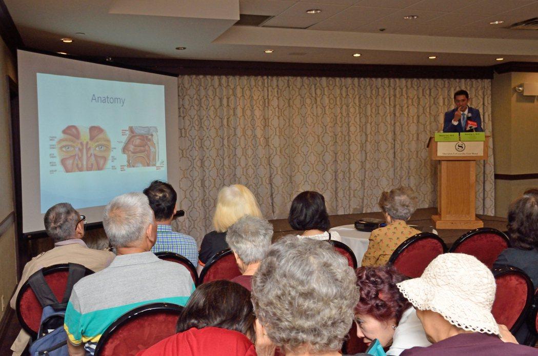 紐約長老會皇后醫院醫師4日舉辦「鼻咽癌的認知」講座。(記者朱澤人/攝影)