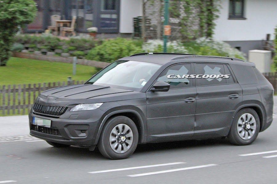 Kodiaq不飛逝Yeti的後繼車,而是一輛全新設計的SUV。 摘自Carscoops.com