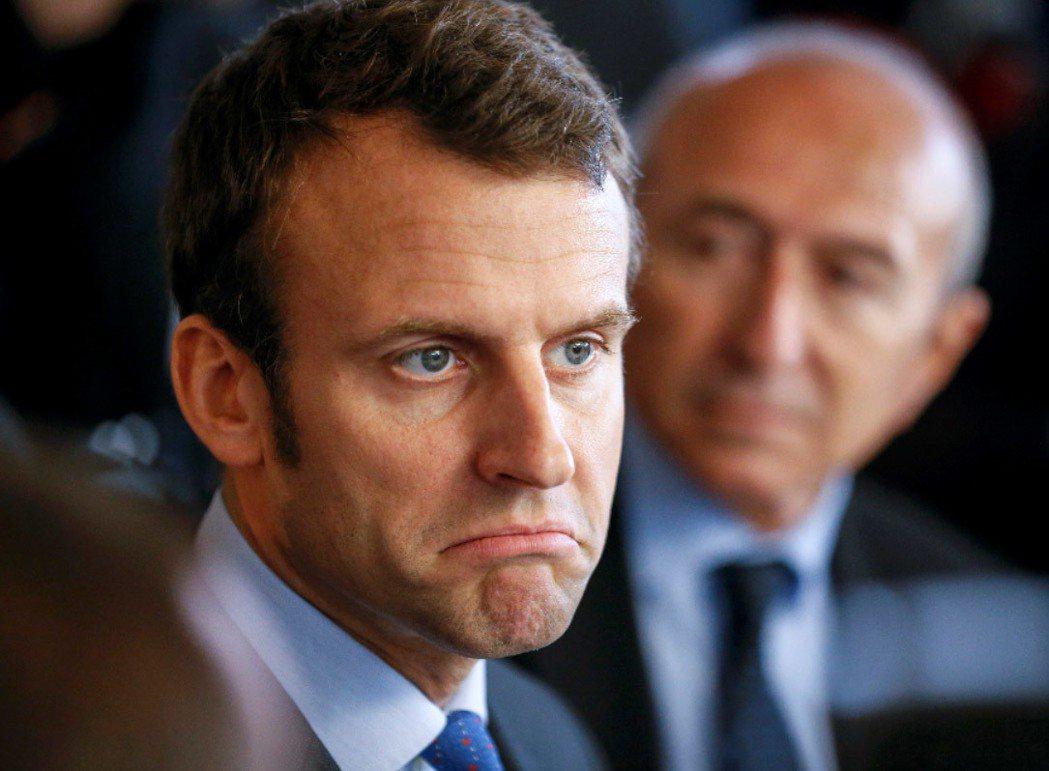 法國無黨籍總統候選人馬克宏。 路透