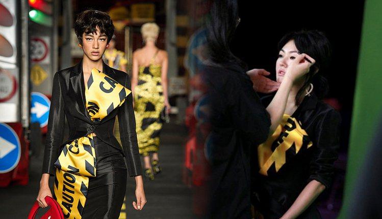 小S身上的洋裝來自鬼才設計師 Jeremy Scott 操刀的品牌 MOSCHI...