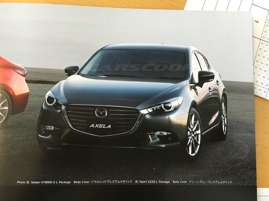 小改款Mazda Axela(Mazda3)的小改款型錄日前流出。 摘自Carscoops.com
