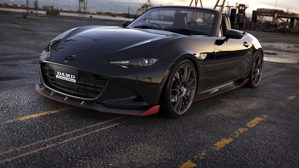 DAMD針對Mazda旗下最新的小跑車MX-5,推出名為Dark Knight的改裝套件。 摘自DAMD