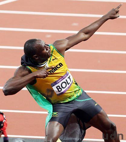 「牙買加閃電」尤塞恩•聖李奧•波特(Usain St. Leo Bolt)奪冠後...