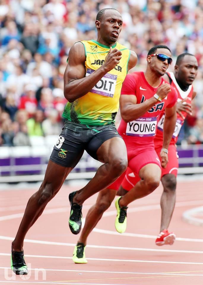 「牙買加閃電」尤塞恩•聖李奧•波特(Usain St. Leo Bolt)跑步英...