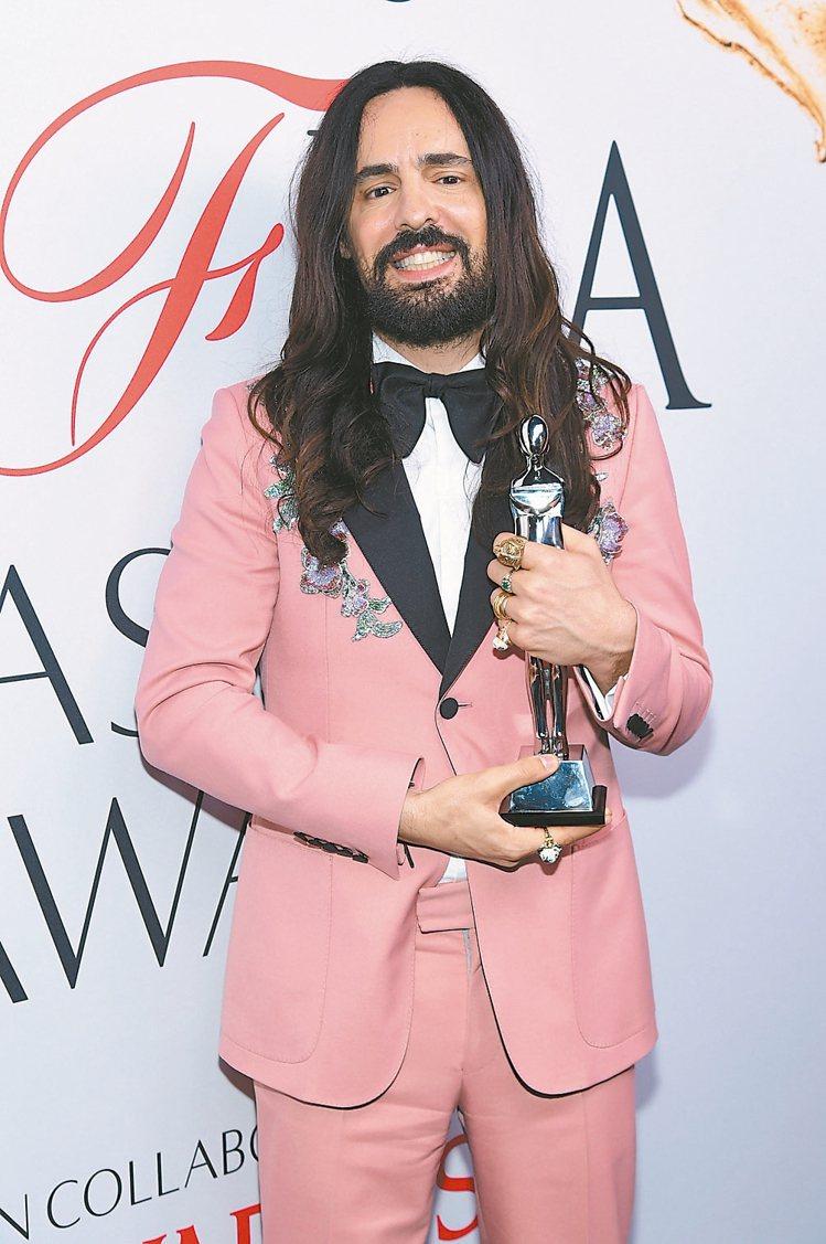 Gucci創意總監Alessandro Michele拿下CFDA國際設計師獎。...