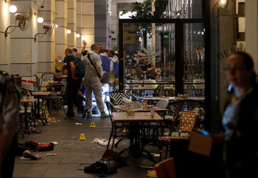 今天晚間以色列特拉維夫一棟酒吧和餐廳大樓附近發生槍擊案。