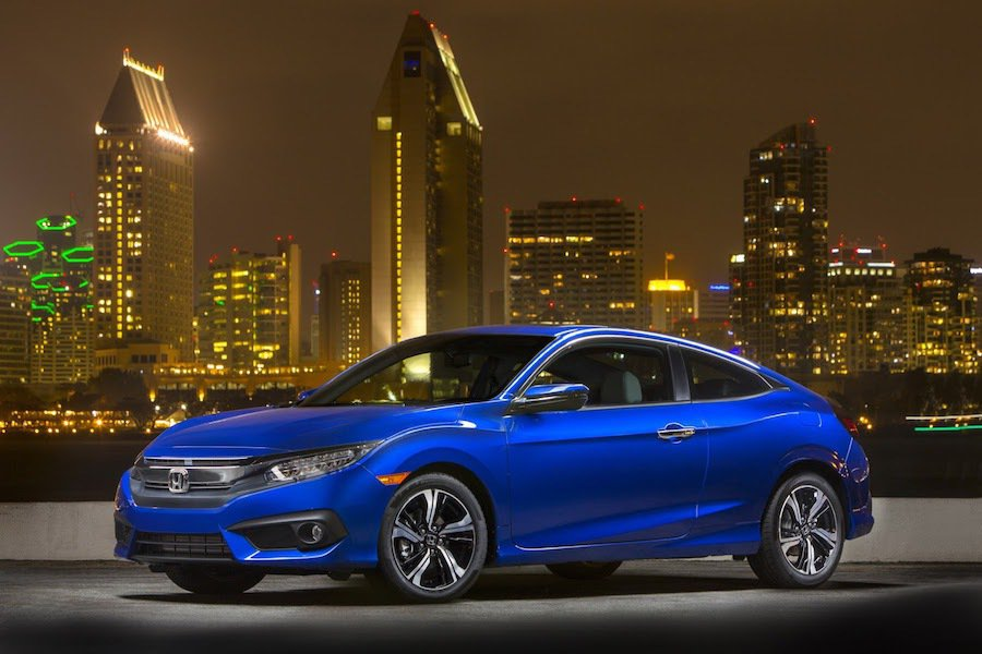 Honda Civic Coupe最近獲得IIHS Top Safety Pick+安全認證車款。 Honda提供