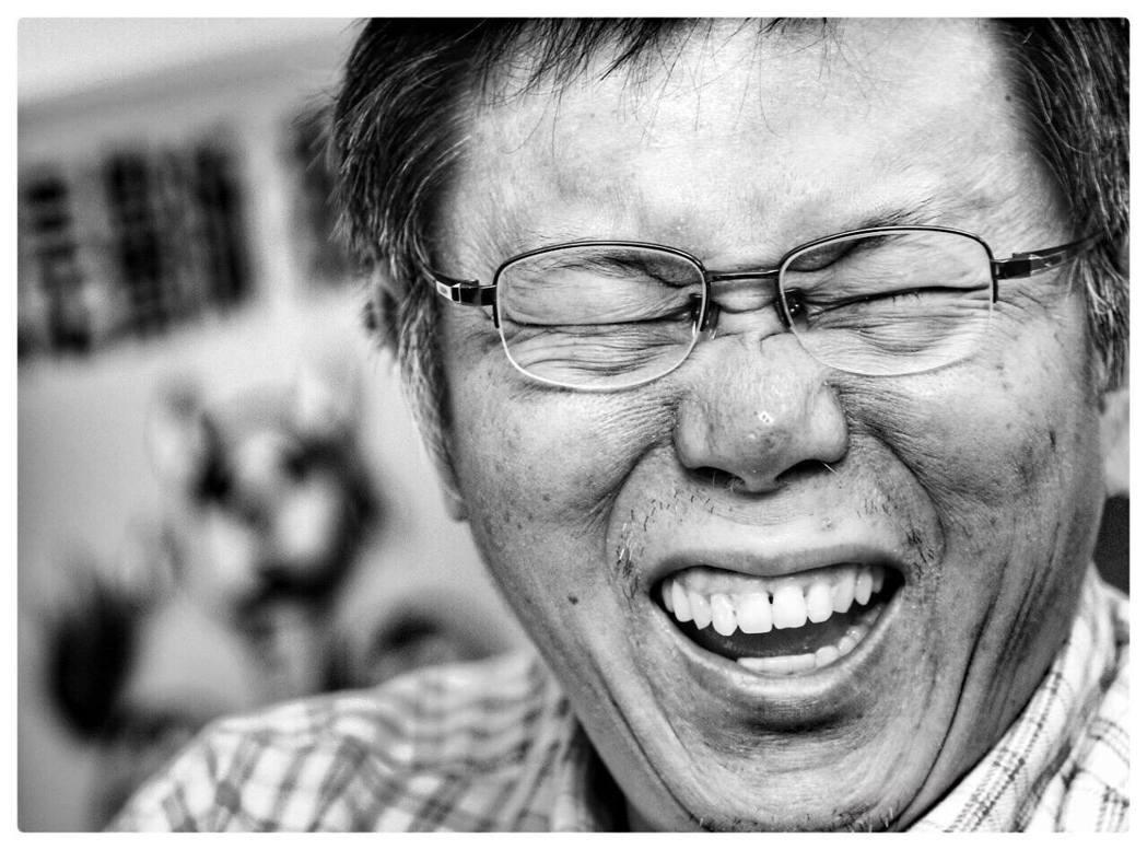 「我跟馬英九有一個共通點,就是管不住老婆」。 陳柏亨/攝影