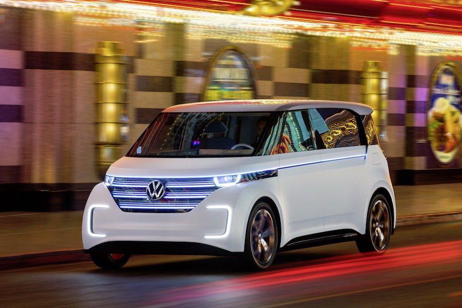 Volkswagen準備推出與BMW i3同級的純電小車。 (圖為BUDD-E) Volkswagen提供
