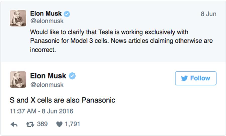 Elon Musk的Twitter看似無害,但它卻造成韓國 Samsung SDI公司的5.8億美元損失。 裁自Elon Musk twitter