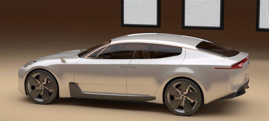 這輛代號CK的後驅轎跑將使用KIA GT概念車的設計元素與Genesis G80的平台來打造。 (圖為KIA GT) KIA提供
