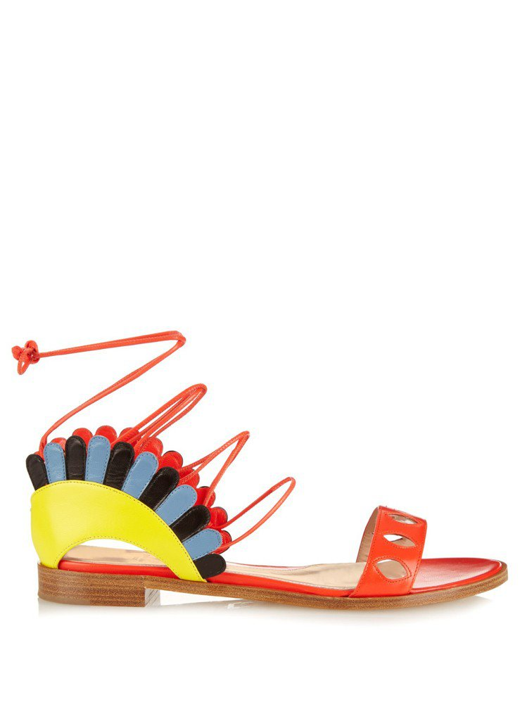 Paula Cademartori 撞色綁帶涼鞋 ,580。圖/CLUB ...