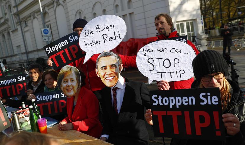 在談判幾乎陷入死局的情況下,5月底G7高峰會上,梅克爾與歐巴馬仍重申將在年底為T...