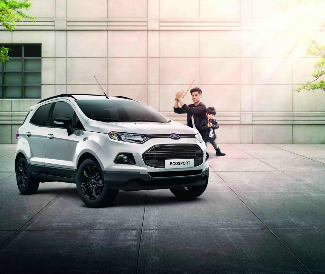 Ford EcoSport燻黑勁裝版,希望吸引年輕父母的青睞。 圖/福特六和提供