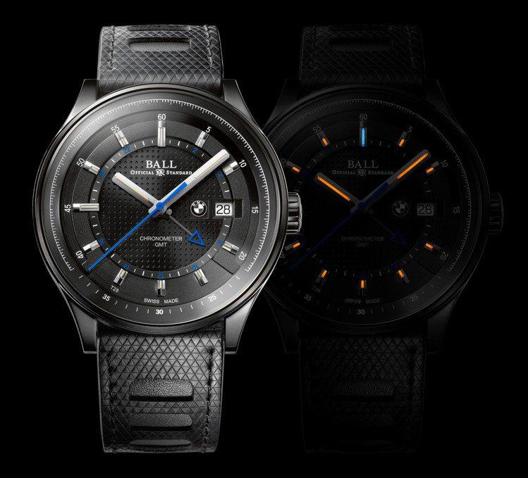 BALL For BMW GMT Chronometer腕表,自動機芯,DLC精...