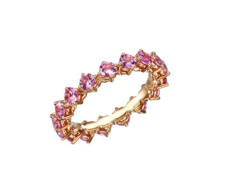 L'Heure du Diamant系列粉紅鋼玉戒指,18萬9,000元起。圖╱...