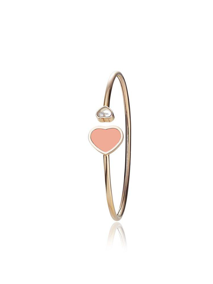 Happy Hearts系列縞瑪瑙手環,10萬2,000元。圖╱蕭邦提供