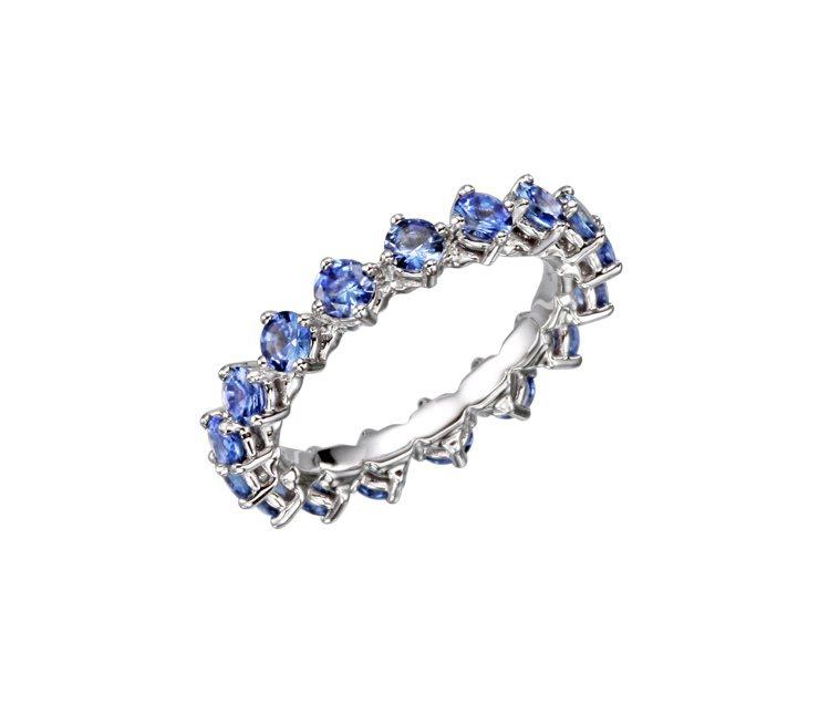 L'Heure du Diamant系列藍寶石戒指,8萬9,000元起。圖╱蕭邦...