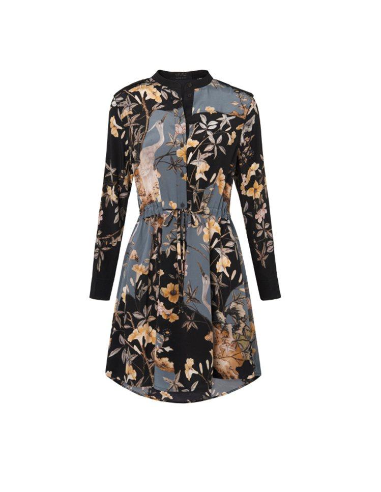 Sanko Heron印花洋裝NTD.13,100。圖/AllSaints提供