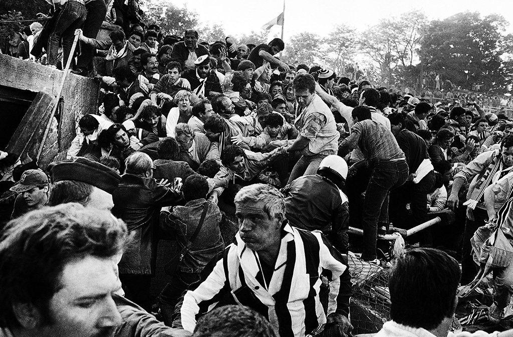 1985年的海塞爾球場慘劇。 圖/美聯社