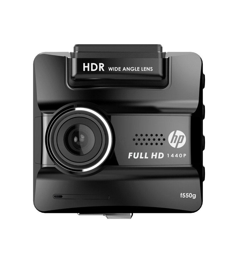 HP推出全新進化的HP f550g行車紀錄器,為使用者帶來更安心的駕駛體驗。 圖/群光電子提供