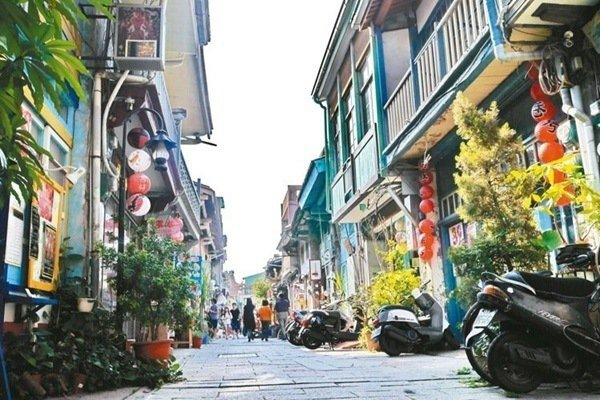 台南神農老街,充滿懷舊氣息。記者陳威任/攝影