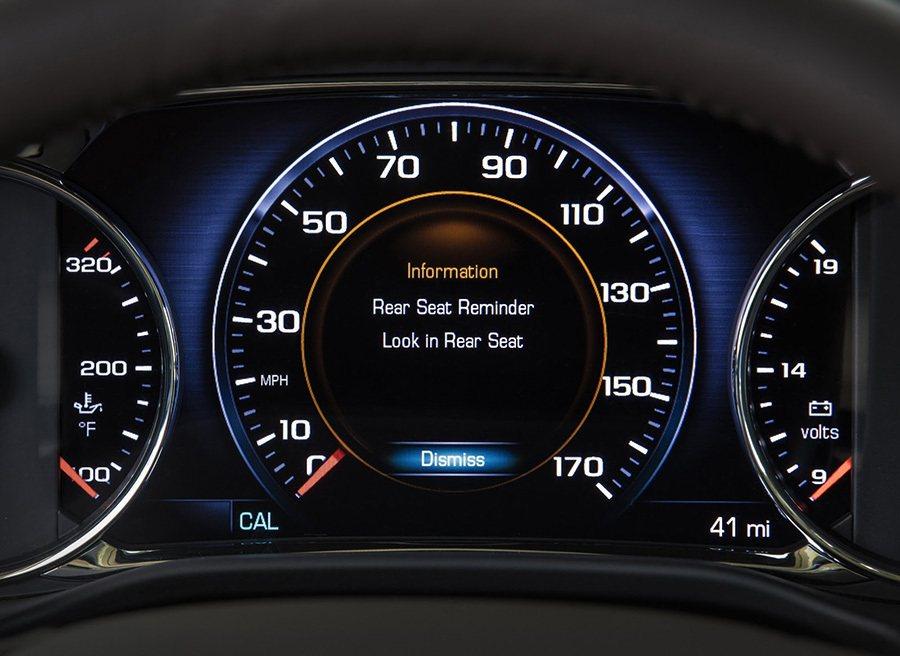 Rear Seat Reminder後座提醒系統將可預防駕駛寶貴的物件遭到偷竊。 GM通用汽車提供
