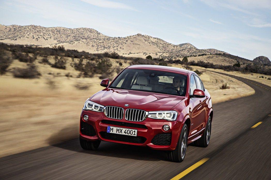 BMW X4。 圖/BMW提供