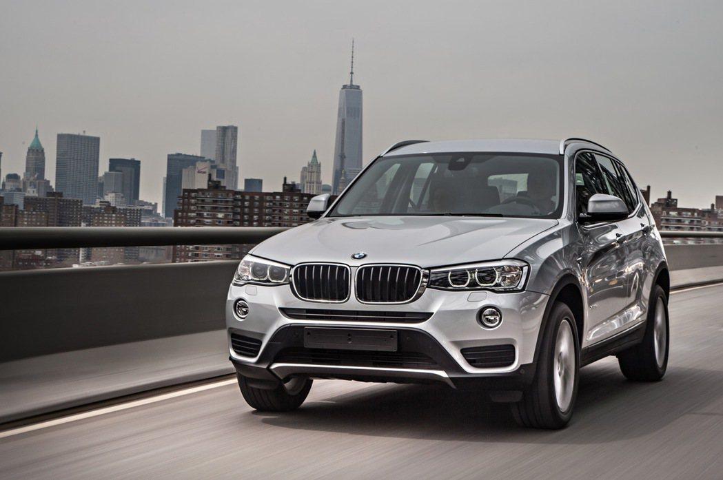 BMW X3。 圖/BMW提供