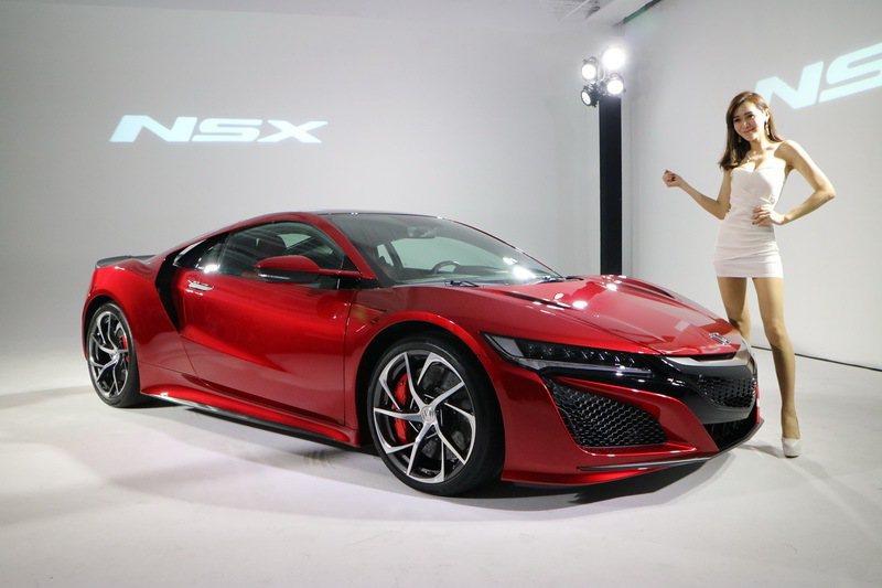 油電超跑Honda NSX登台,1280萬,限量8台。 記者史榮恩/攝影