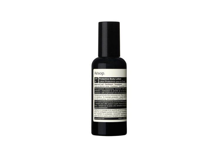 Aesop防曬身體乳液SPF50,加入維他命E,並散發宜人氣息。160ml/1,...