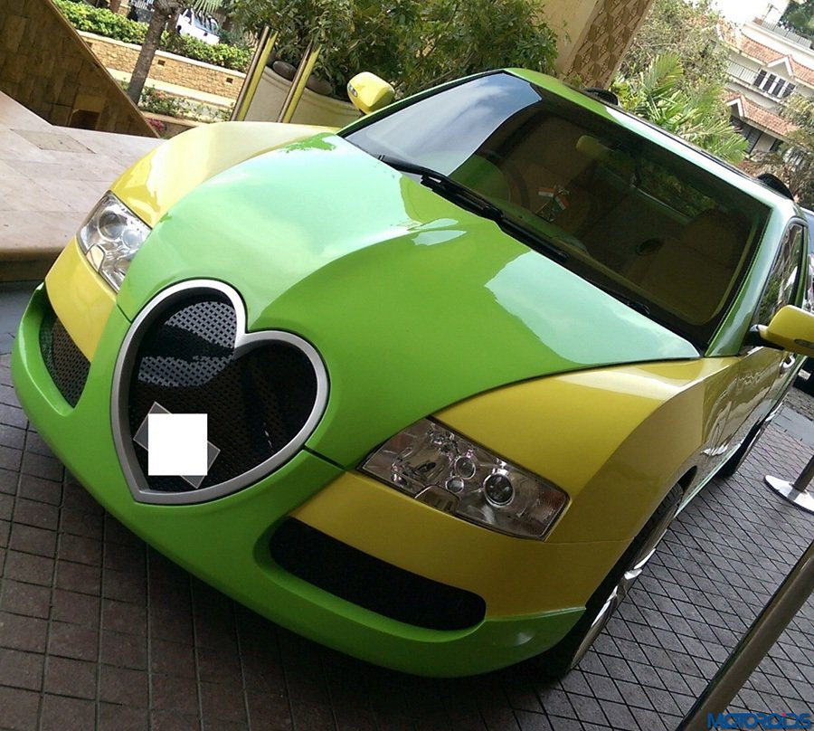 山寨 Bugatti Veyron還有一個最獨特的愛心水箱護罩設計 摘自carscoops.com