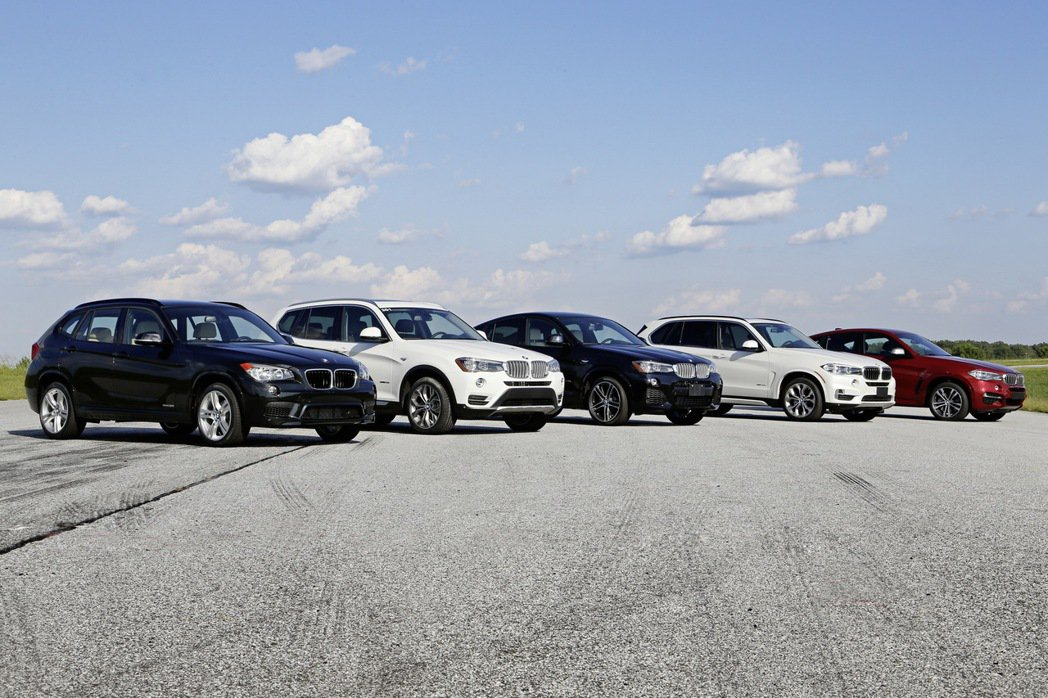 BMW X家族成員。 圖/BMW提供