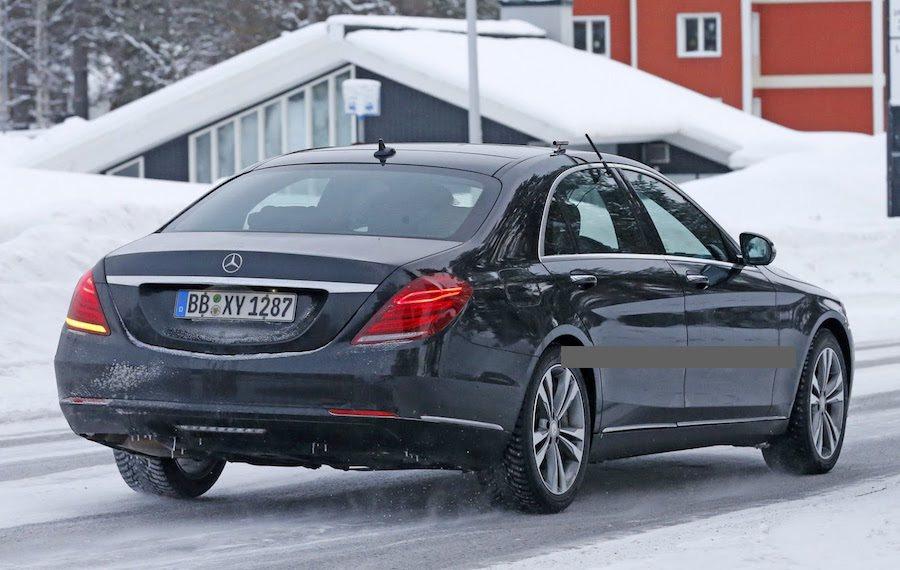 小改款S-Class將採用全新的48V Hybrid油電動力系統。 摘自Carscoops.com