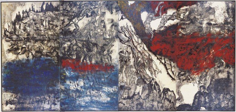 沖繩之戰繪圖。 圖/取自佐喜真美術館官網