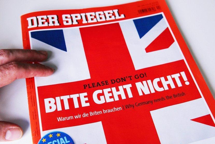 英國留與不留歐盟,不僅是英國問題,也是歐洲問題。德國《明鏡周刊》最新一期大篇幅分...