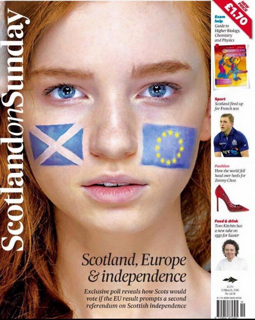 「蘇格蘭,歐洲,與獨立之路。」如果英國決心脫歐,蘇格蘭的主流民意或許將再發起第二...