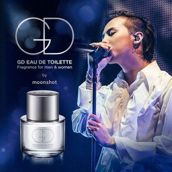 GD同名香水 YG旗下彩妝品牌moonshot 推出了以G-Dragon為靈感...