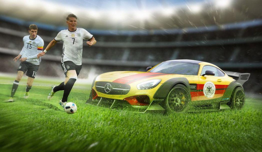 德國國家隊與Mercedes-AMG GT R。 摘自carwow.co.uk