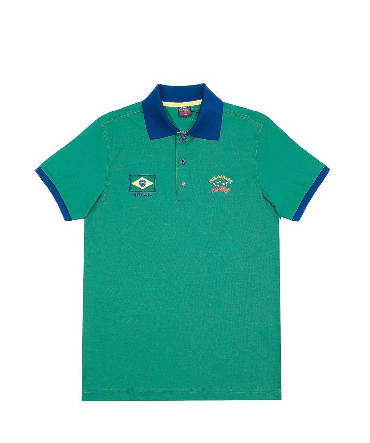 Paul & Shark巴西奧運POLO衫,巴西隊8900元。 圖/Paul &...