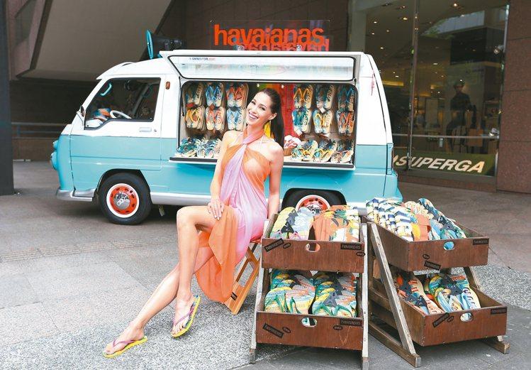 巴西混血名模香月明美是havaianas人字拖的忠實粉絲。 圖/havaiana...