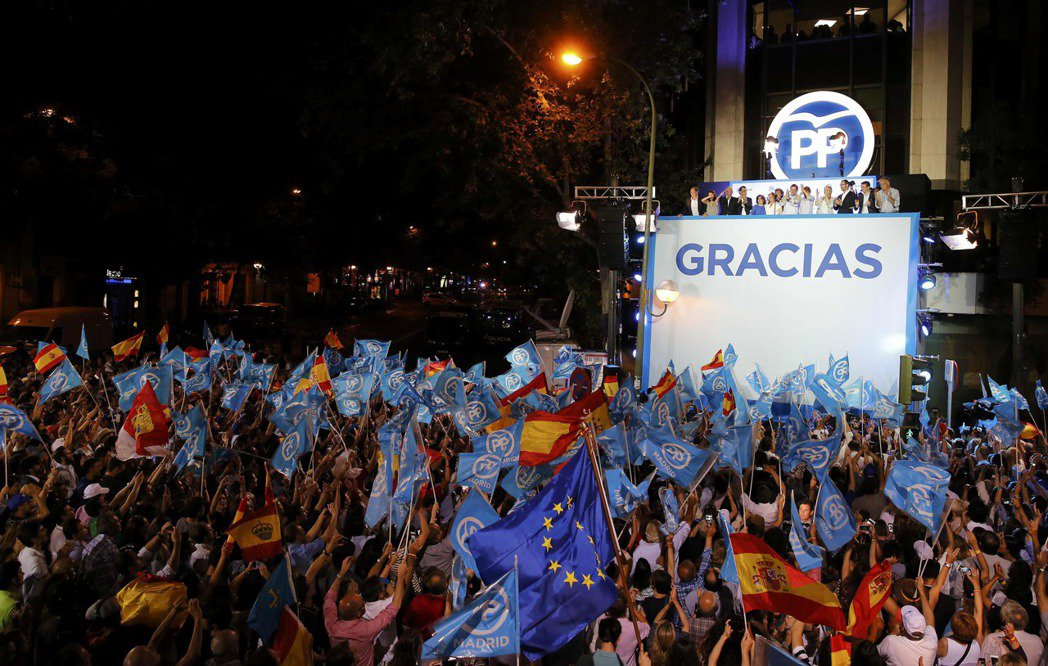 西班牙在英國脫歐後選擇安定 保守執政黨贏得大選。(路透)
