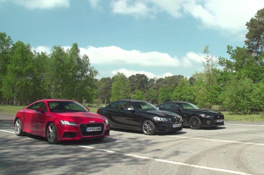 最後BMW M235i以最為均衡的表現取得勝出。 截自Carwow影片