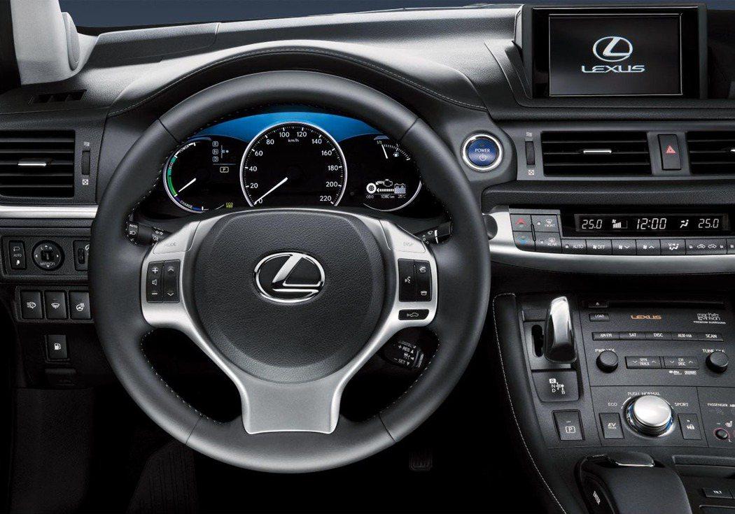 LEXUS CT 200h內裝。 圖/Lexus提供