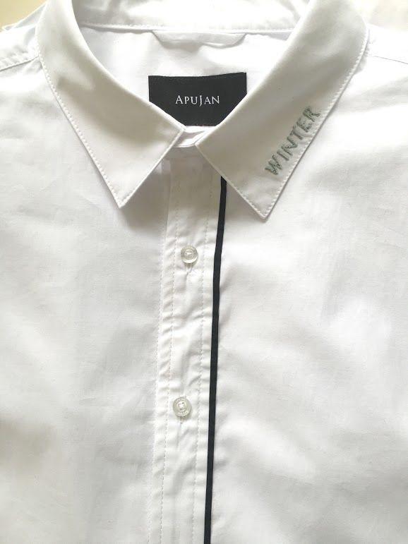詹朴為蘇打綠設計的襯衫繡上休止符等字樣。圖/BIOS提供