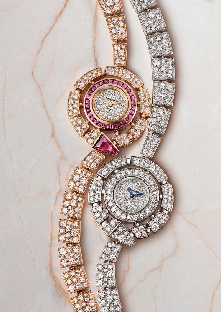 Serpenti Incantati珠寶腕表將女性的魅惑力一覽無遺。圖╱寶格麗提...