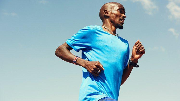 奧運男子10公里金牌選手Mo Farah,為NIKE代言奧運新裝。圖/NIKE提...