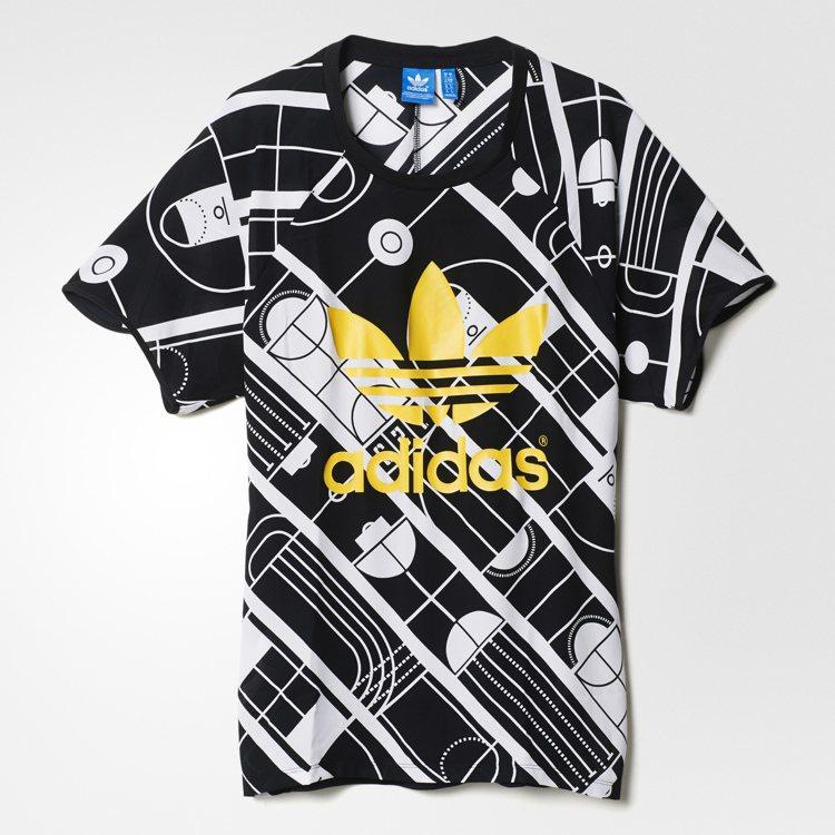 adidas Originals以奧運田徑賽發想的奧運T恤。圖/adidas O...