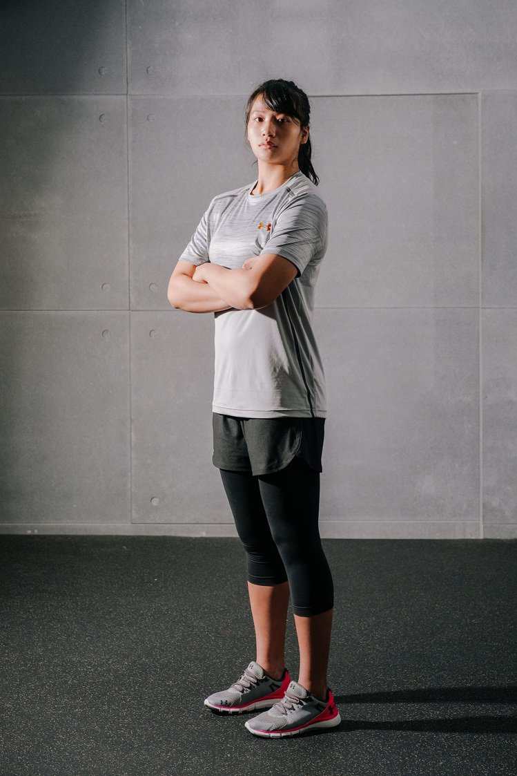 UA邀請台灣首位女角力奧運選手陳玟陵擔任奧運新裝代言人。圖/Under Armo...