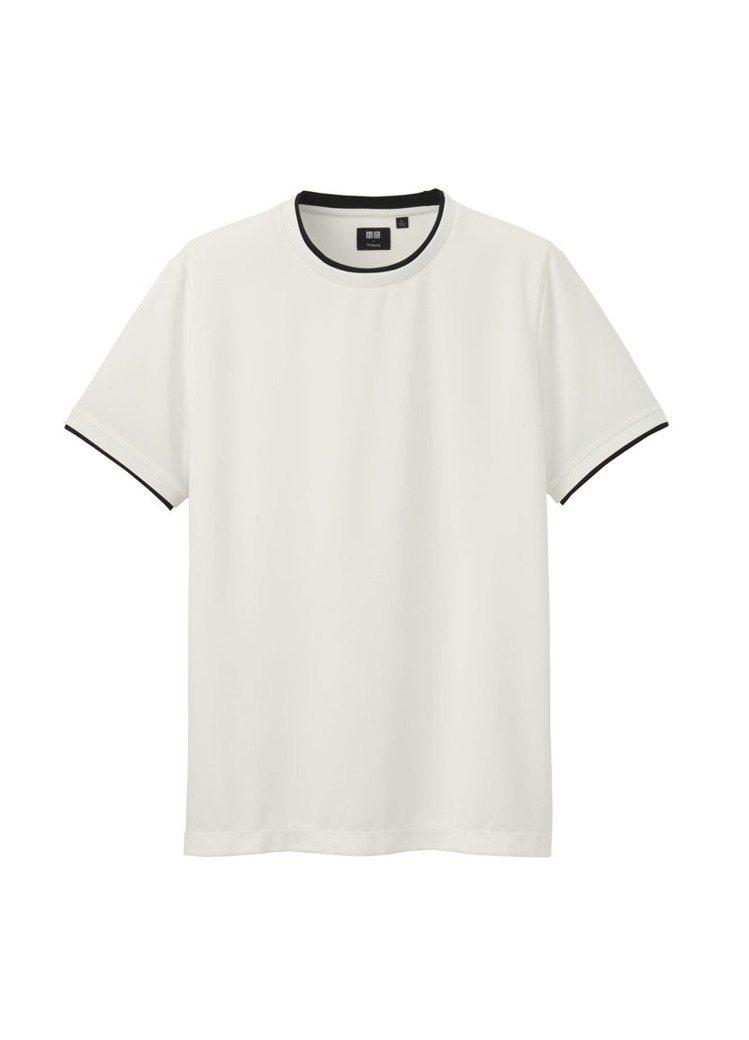 UNIQLO X Theory DRY EX仿雙層T恤(短袖)_白_售價NT...